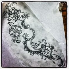Lace tattoo...Instagram photo by @micahriot (Micah Riot) | Statigram