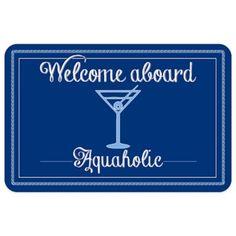 Bungalow Flooring 23-Inch x 36-Inch Aquaholic Accent Kitchen Mat - BedBathandBeyond.com