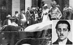 Gavrilo Princip, 25 juli 1894 , geboren en getogen in Bosnie en herzegovina en overleden op 28 april 1918 in Theresienstadt, Tsjechie. Hij was een nationalist. Hij wilde dat Serviers van Bosnie bij Servie hoorden. Hij had troonopvolger Franz Ferdinand van Oostenrijk in Sarajevo vermoord en werd daarna opgepakt. Hierdoor begon de grote oorlog oftewel de WO1
