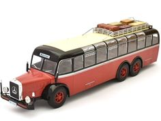 Ex Mag 1:43 Mercedes Benz O10000 Diecast Model Bus HC02 This Mercedes Benz O10000 (1939) Diecast Model Bus is Red and Black and features working wheels. It is made by Ex Mag and is 1:43 scale (approx. 29cm / 11.4in long).    Fantastic model of this iconic bus - almost 12 inches long! Comes blister packed.  #ExMag #ModelBus #MercedesBenz #MiniModelBuses