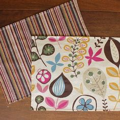 The DIY Double-Sided Placemats tutorial is a great homemade gift idea (or the perfect gift for yourself!)
