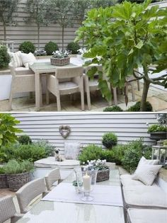 Garden Book - 40 Stylish Patio Ideas To Try On Your Backyard Outdoor Decor, Garden Landscaping Diy, Garden Design, Outside Living, Cottage Garden, Outdoor Living, Concrete Outdoor Kitchen, Outdoor Garden Furniture, Stylish Patio