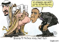 Image result for SAUDI KING HAVING SEX WITH OBAMA CARTOON