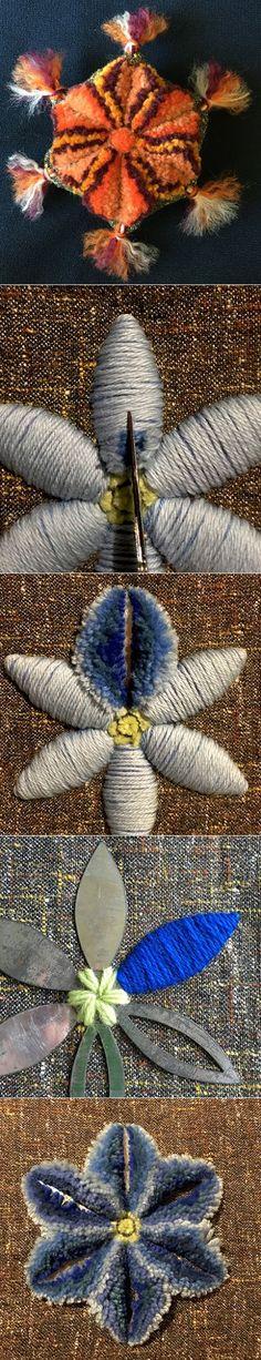 Plushwork Photo Учебное пособие, также известный как амишей stumpwork и синели работы.