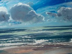 """Saatchi Art Artist michael sole; Painting, """"out over the sea no.3"""" #art"""