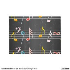Fab Music Notes on Black