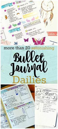 Does your bullet journal need a little boost? Spice it up with these bullet journal daily logs