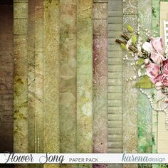 Digital Scrapbooking, Paper Crafts, Songs, Pretty, Shop, Flowers, Collection, Design, Home Decor
