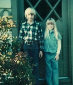 This undated photo provided by Kim Cobain, Kurt Cobain's sister, shows a young Kurt Cobain, left, and Kim in their childhood home in Aberdee...