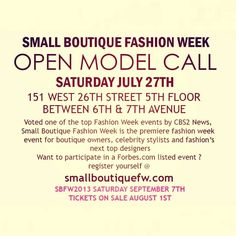 Safar boston model casting call httpthefashionhubupdates small boutique fashion week model casting call in nyc on saturday july 27th details on pronofoot35fo Choice Image