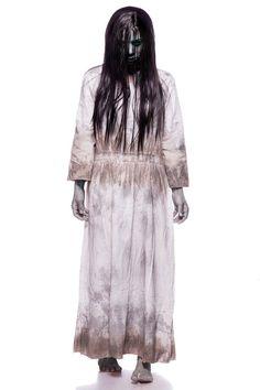 Costume CREEPY GIRL horror   parrucca taglia S/M, L/XL, 2XL/3XL Halloween feste#GIRL#horror#Costume Costume Wigs, Costume Dress, Halloween Costumes For Girls, Girl Costumes, Samara, Weeping Angel Costume, Ring Horror, Distressed Dress, Long Hair Wigs