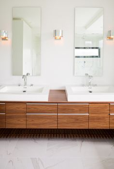 : Incredible Master Bathroom Modern Design Interior Used Wooden Bathroom Vanity Mirrors Furniture Decoration Ideas Inspiration