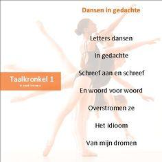 Taalkronkel 1 Dansen in gedachte.