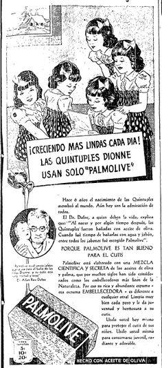 1940 - Anuncio de Jabón Palmolive - Anuncio publicado en el Informador Guadalajara, Jalisco México