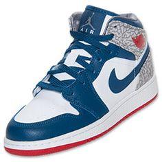 Boys' Grade School Air Jordan 1 Mid Basketball Shoes  $79.99