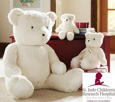 St. Jude Give Back Bear.... I'm thinking of getting the large which is $39 and additional $7 bucks for personalization