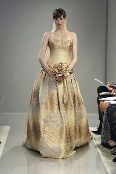 Gold #Wedding Dresses