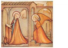 """vintage unused  greeting cards  ARS SACRA Hummel """" angel to maria""""1625"""""""
