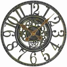 Smart Garden Newby Mechanical Style Rustic Outdoor Garden Clock The Rustic Clock Wall Accessories, Decorative Accessories, Mechanical Wall Clock, Garden Clocks, Outdoor Clock, Clock Shop, Smart Garden, Rustic Wall Clocks, Steampunk Design
