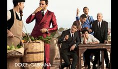 Noah Mills, Tony Ward, Adam Senn and Evandro Soldati in the Dolce&Gabbana Spring Summer 2014 Advertising Campaign photographed by Domenico D...