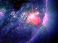 L'eruzione solare del primo gennaio