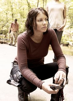 Hey. I'm Maggie Greene. I'm 19 and single. My daddy was killed and I was taken from him. Now I'm alone again. I don't trust people easily.