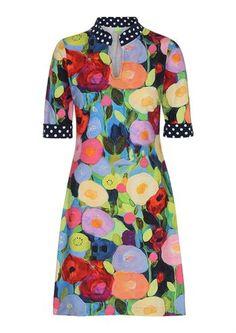 Dazzle Me kjole DANA blomst dots