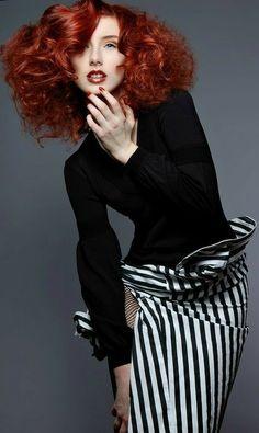 Black & white & redhead.