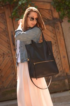"""""""Lottie Fold Over Tote"""" by morelebags"""