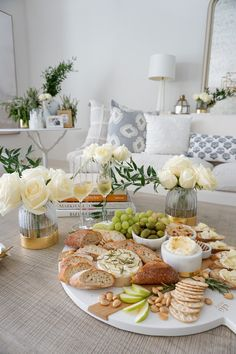 A Simple Beautiful Way to Decorate Your Dining Table for Fall — 2 Ladies & A Chair Cheese Platters, Food Platters, Pumpkin Display, Fashionable Hostess, Charcuterie And Cheese Board, White Cheese, Dining Table, Dining Room, Food Presentation
