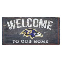 Baltimore+Ravens+Distress+Welcome+Sign
