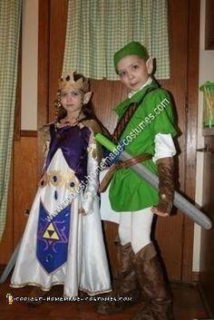 Coolest DIY Zelda and Link Child Halloween Couple Costume Ideas | Pinterest | Couple costume ideas Costumes and Halloween costumes  sc 1 st  Pinterest & Coolest DIY Zelda and Link Child Halloween Couple Costume Ideas ...