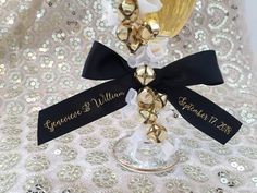 Custom Ribbon -Fun script design on this custom wedding favor ribbon will be perfect for your upcoming events!