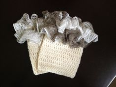 Boot Cuffs with Ruffle