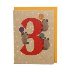 Koalas mini 3rd birthday card