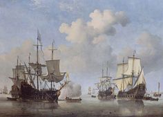 """""""Dutch Ships Coming to Anchor by Willem van de Velde the Younger"""