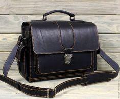 Купить Сумка из жёсткой кожи, артикул 0154 - коричневый, сумка из кожи, сумка из натуральной кожи