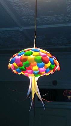 Colored Paper Jellyfish Light Shade  Kids by MelsCreativeDesigns, $55.00