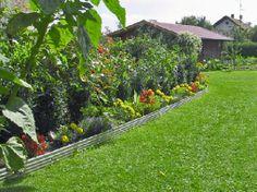 Gardenplaza - Rasenkanten aus Antik- oder Edelstahl bilden farbige Highlights - Stilvolle Akzente setzen