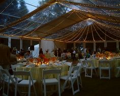 Twinkle Lights all over this tent