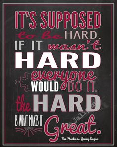 Baseball Supposed to be Hard - A League Of Their Own Movie Quote INSTANT DOWNLOAD Printable Coach Fan Cave Gear Gift Wall Art Chalkboard on Etsy, $4.97