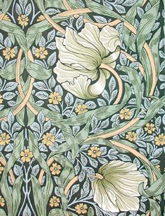 24 New Ideas Art Nouveau Design Pattern Illustration William Morris Motifs Art Nouveau, Design Art Nouveau, Art Nouveau Pattern, Art Nouveau Flowers, Art Nouveau Interior, William Morris Wallpaper, William Morris Art, Backgrounds Wallpapers, Morris Wallpapers