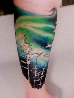 50 northern lights tattoo designs for men aurora for Best tattoo artists in northern california
