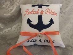 Anchor Ring Bearer Pillowring bearer pillows by ElegantThreadsEtc