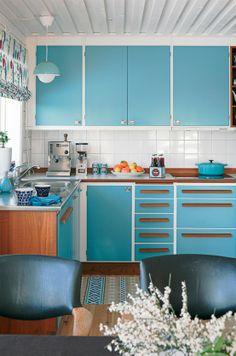 Blue Kitchen // Симпатична ретро кухня