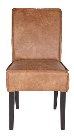 Rodeo leather dining chair - BePureHome. Cuir chaise à manger. Leder Esszimmerstuhl. Leren eetkamerstoel. Lederen stoel. Bruin. Brown. Braun. Brun.
