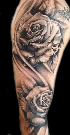 Rose beautiful black & grey