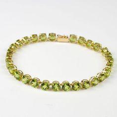 14kt Yellow Gold and Peridot Bracelet