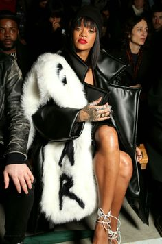 Rihanna Front Row at Comme des Garcons