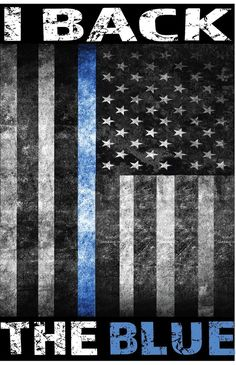 I Back the Police Blue Line American Flag Sublimated T-Shirt
